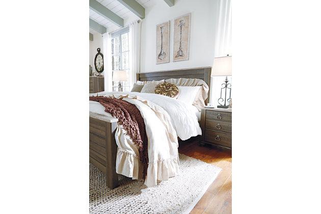 Birmington Queen Panel Bed, Brown, large