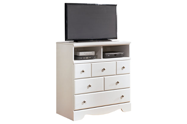 White Weeki Media Chest by Ashley HomeStore