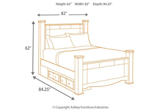 Weeki King Poster Storage Bed, White, large