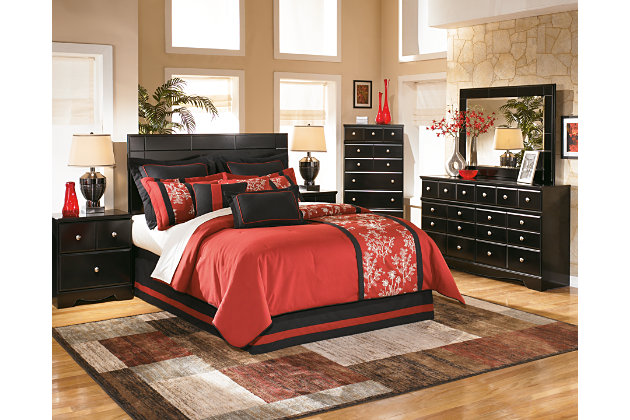 Black Bedroom Sets Ashley shay dresser | ashley furniture homestore