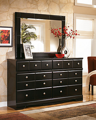 Large Shay Dresser And Mirror Rollover