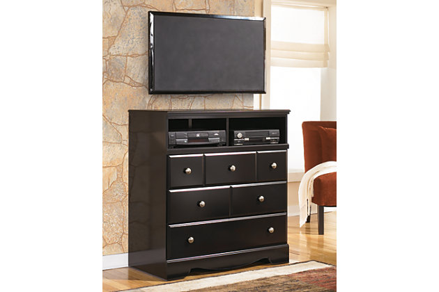 shay media chest | ashley furniture homestore