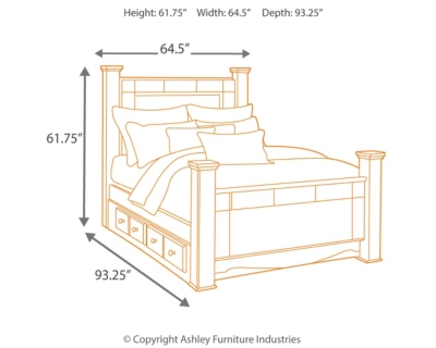 Shay Queen Poster Storage Bed Ashley Furniture HomeStore