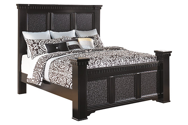 Cavallino Queen Mansion Bed by Ashley HomeStore, Black