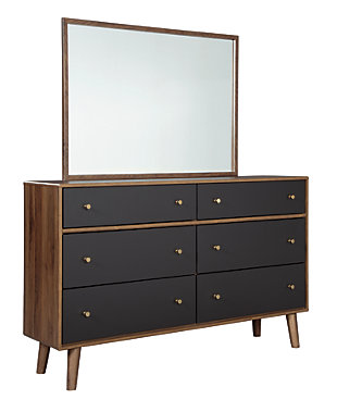 Daneston Dresser and Mirror, , large