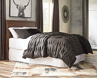 Daneston Queen Panel Headboard, Brown/Graphite, rollover