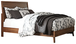 Daneston Queen Panel Bed, Brown/Graphite, large