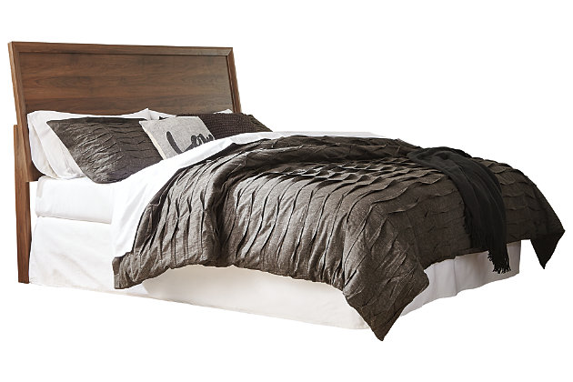 Daneston King Panel Headboard, Brown/Graphite, large