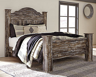 Lynnton Queen Poster Bed, Rustic Brown, rollover