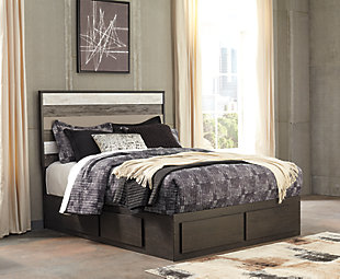 Micco Queen Panel Storage Bed, Multi, large