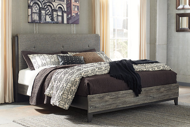 Micco King Panel Upholstered Bed, , large
