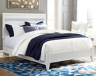 Jallory Queen Panel Bed, White, rollover