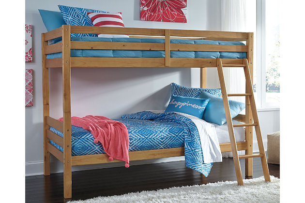 Hallytown Twin Over Twin Bunkbed With Ladder Ashley Furniture