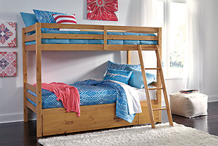 Hallytown Twin over Twin Bunk Bed with Storage, , large