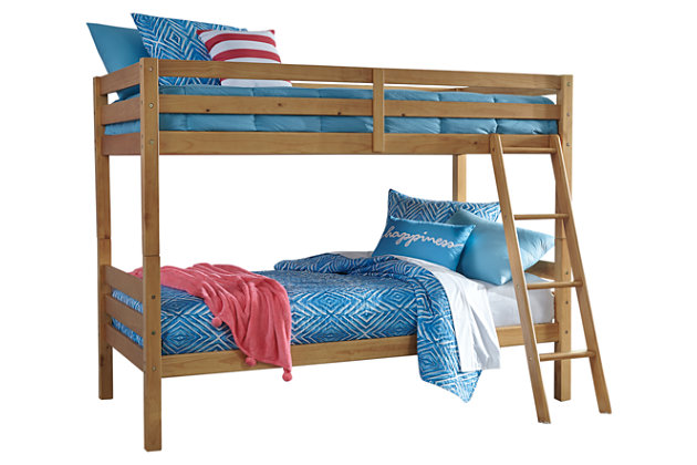 Hallytown Twin over Twin Bunkbed with Ladder, , large