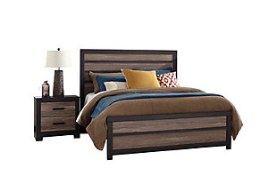Harlinton Queen Panel Bed with Nightstand, , large