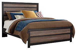 Harlinton Queen Panel Bed, Warm Gray/Charcoal, large