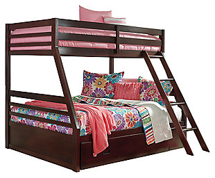 Halanton Twin Over Full Bunk Bed W Storage