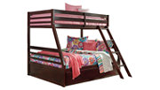 Halanton Twin over Full Bunk Bed with Storage, , large
