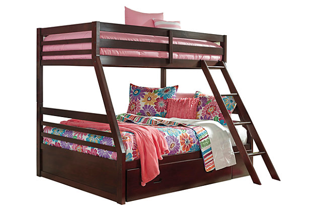 Halanton Twin over Full Bunk Bed with 1 Large Storage Drawer, , large