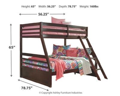 Picture of: Halanton Twin Over Full Bunk Bed Ashley Furniture Homestore