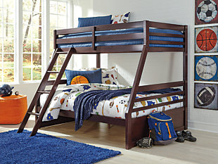 ... Halanton Kids Twin Over Full Bunk Bed With Storage, , Large ...