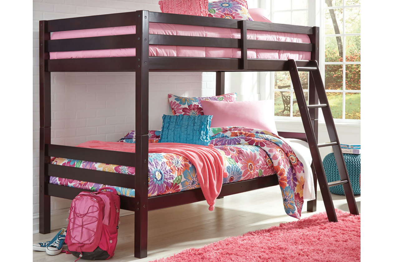 Halanton Twin Over Twin Bunk Bed With Ladder Ashley Furniture Homestore