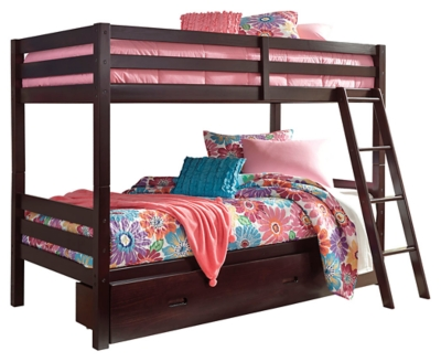Halanton Twin Over Twin Bunk Bed With 1 Large Storage Drawer Ashley Furniture Homestore