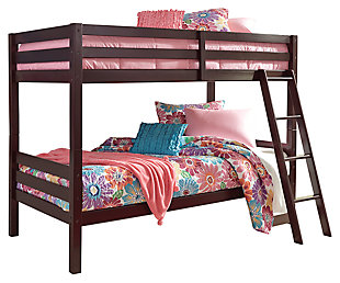Halanton Twin over Twin Bunk Bed with Ladder, , large