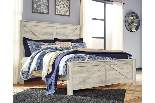 Bellaby King Panel Bed, Whitewash, large