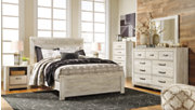 Bellaby Queen Panel Bed, Whitewash, rollover