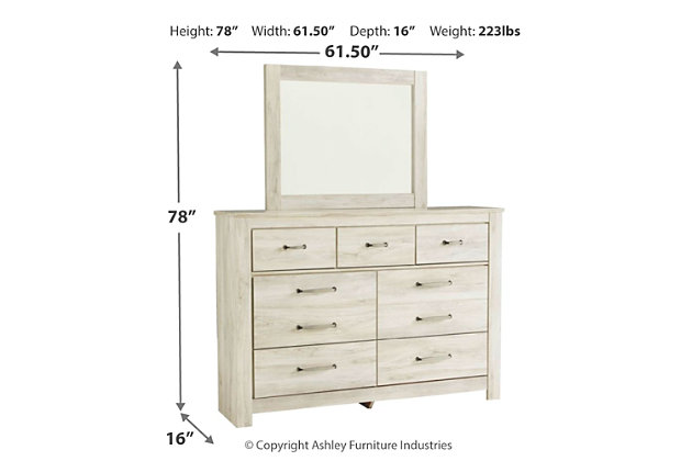 Bellaby 5-Piece Bedroom Package, Whitewash, large