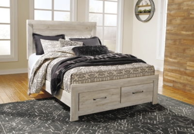 Picture of: Bellaby Queen Platform Bed With 2 Storage Drawers Ashley Furniture Homestore