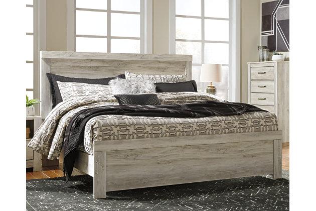 Bellaby King Panel Bed, Whitewash, large