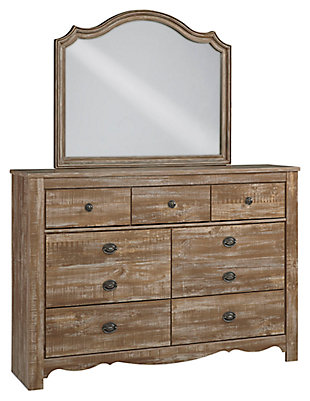 Shellington Dresser and Mirror, , large