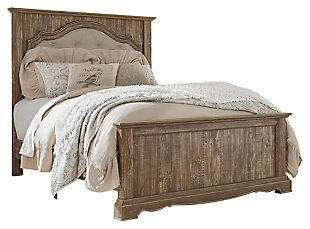 Shellington Queen Mansion Panel Bed, Caramel, large