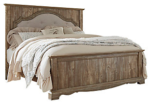 Shellington King Mansion Panel Bed, Caramel, large