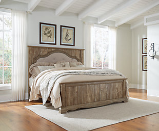 Shellington King Mansion Panel Bed, Caramel, rollover