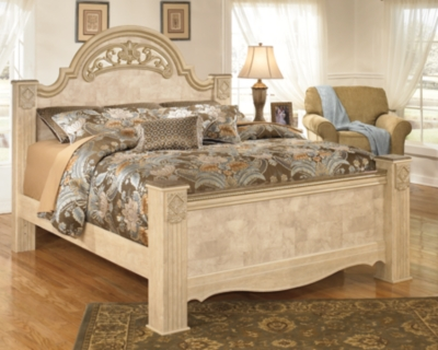 Saveaha Queen Poster Bed Ashley Furniture HomeStore