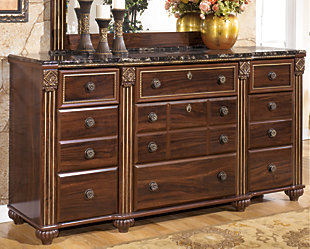 Gabriela Dresser, Dark Reddish Brown, rollover