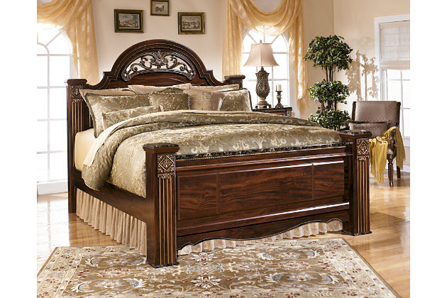 King Bedroom Sets Ashley Furniture gabriela king poster bed | ashley furniture homestore