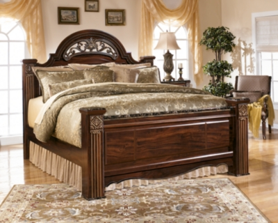 Picture of: Gabriela King Poster Bed Ashley Furniture Homestore