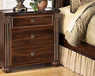 Dark Reddish Brown Bedroom Furniture Shown On A White Background