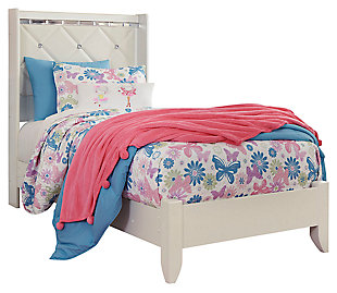 Dreamur Kids Twin Panel Bed, Champagne, large