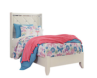 Dreamur Kids Twin Panel Bed, Champagne, rollover