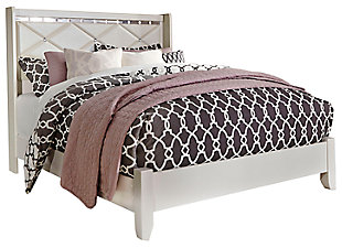 Dreamur Queen Panel Bed, Champagne, large