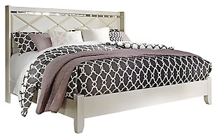 Dreamur King Panel Bed, Champagne, large