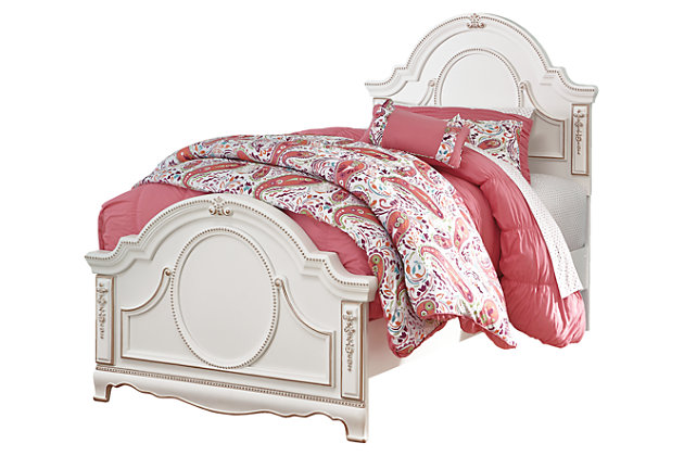 Korabella Twin Panel Bed by Ashley HomeStore, White