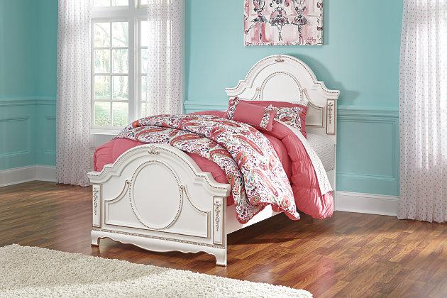 Korabella Twin Panel Bed by Ashley HomeStore, White