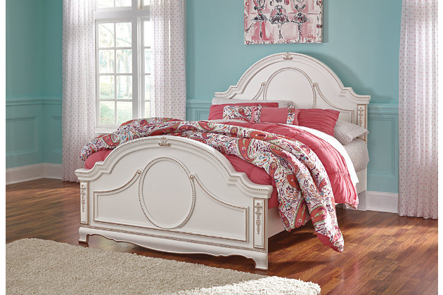 White Korabella Full Panel Bed by Ashley HomeStore